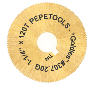 "JRM2 Large Blade TiN Coated ""Goldies"" 1.25""-Pepetools"