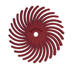 "7/8"" Radial Discs - Red 220 Grit 1/16"" Arbor (12 pack)-Pepetools"