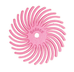 "7/8"" Radial Discs - Pink Pumice 600 Grit 1/16"" Arbor (12 pack)-Pepetools"