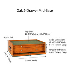 Load image into Gallery viewer, M20 Oak 2-Drawer Mid-Base