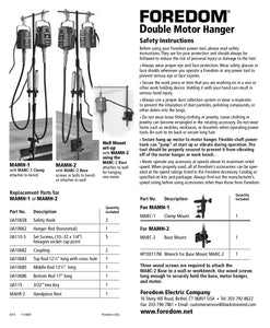 Double Motor Hanger with Mounting Clamp - Foredom-Pepetools