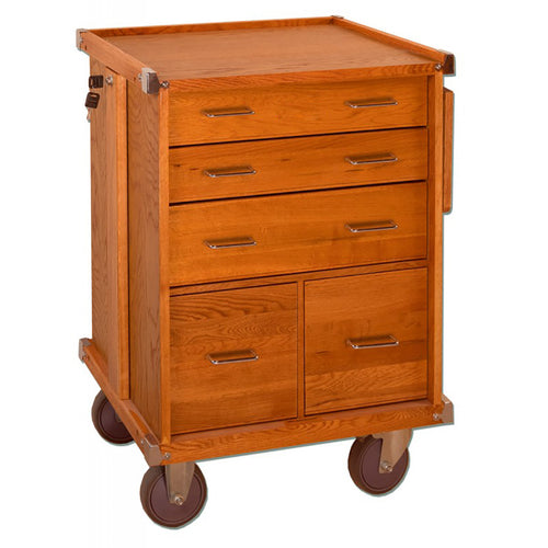 R20 Oak 5-Drawer Roller Cabinet