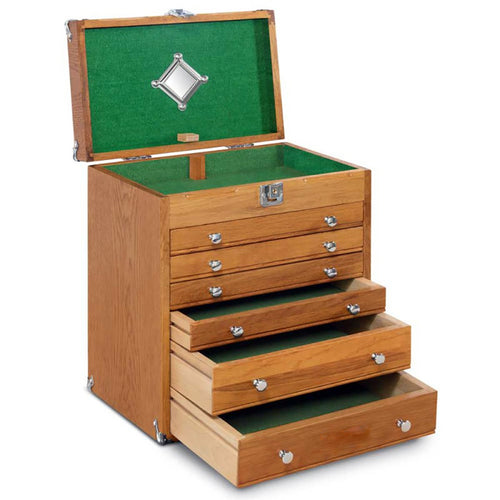 T-16 Mighty Portable Oak 6-Drawer Chest.