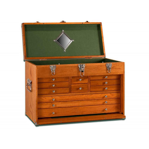 T24 Oak 11-Drawer Chest