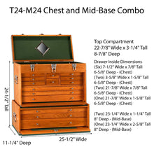 Load image into Gallery viewer, T24-M24 Chest and Mid-Base Combo