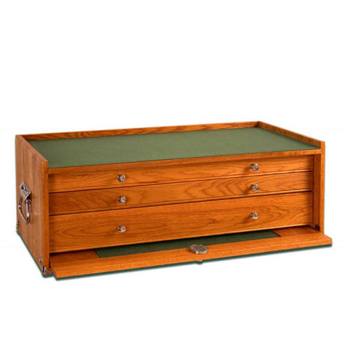 M24 Oak 3-Drawer Mid-Base