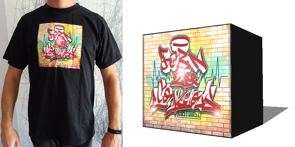 customsz worldwide graffiti style tee shirt