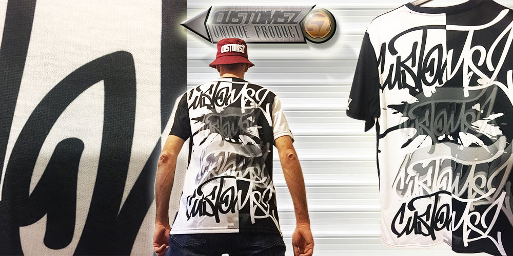 t-shirt graffiti streetwear hiphop customsz SZ suoz design customisation personnalisation personnaliser personnalisable Fullprint impression integrale
