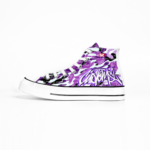 Baskets Camo Graffiti Purple SZ