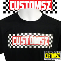 Tee shirt Damier Customsz - noir/blanc/rouge
