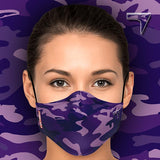 Masque de protection CUSTOMSZ Militaire violet