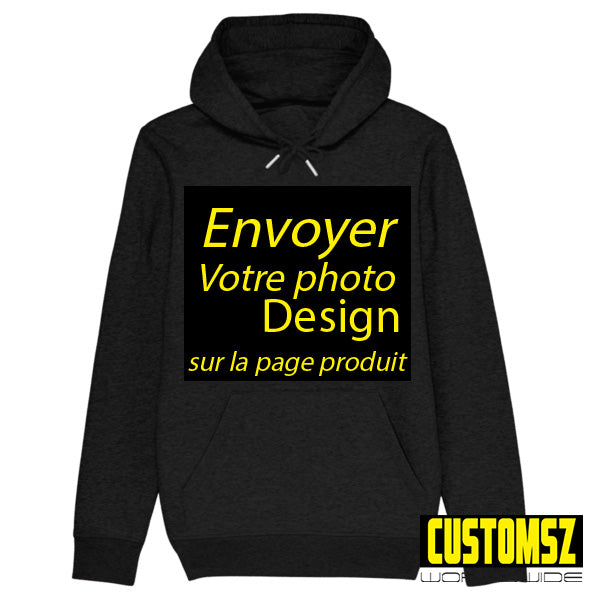 Personnalisation Sweat à capuche /  Hoodies / Photo Style GRAFFITI / Coton Bio