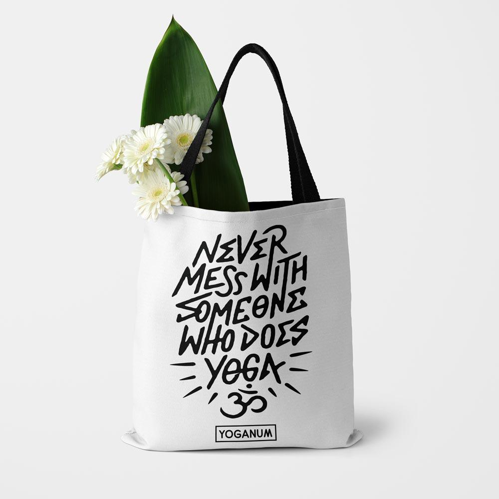 Never mess with yoga - Tote bag