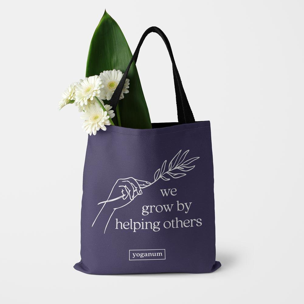 We grow by helping - Tote bag