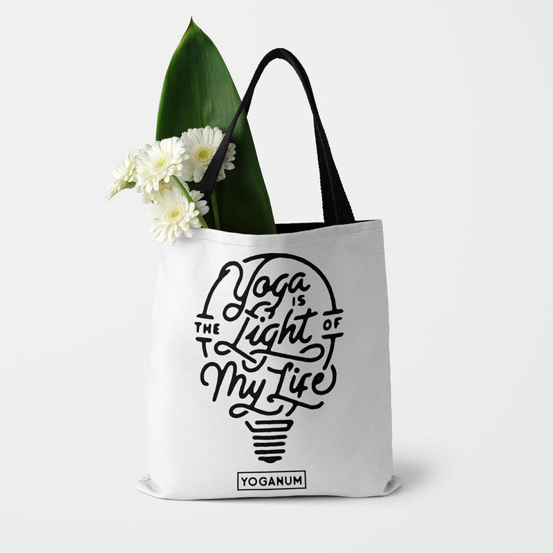 Yoga is the light - Tote bag