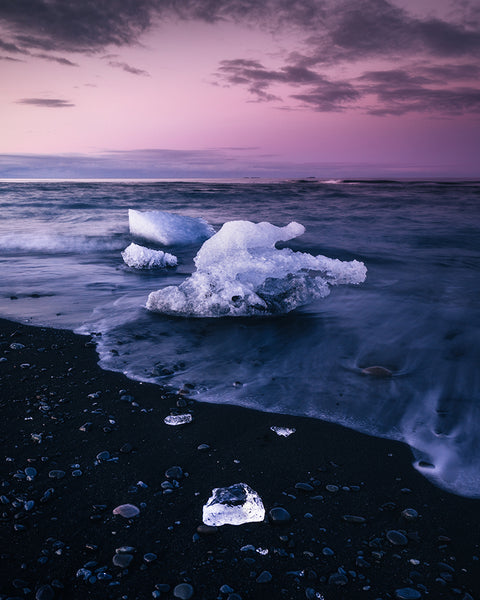 Diamond Beach in Iceland - photographed by Ryan Ditch