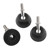"Flat Rubber Foot Set - 3/8"" Thread"