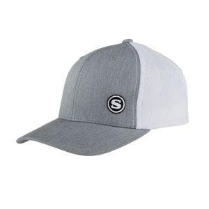 Slik Retro Trucker Hat - Gray on White
