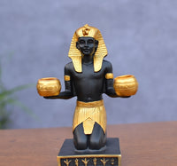 Candle Holder Classic Egyptian Pharaoh Figurine