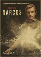 Drama Crime Justice Columbia Season Narcos TV series Vintage Poster