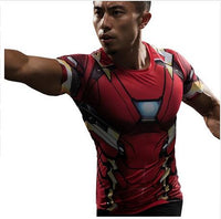 Men's Marvel Avengers T-shirt Short Sleeve Fitness