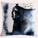 Watercolor Superheros  DC-Marvel Pillow Case