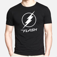 DC Comics Flash Logo Mens Short Sleeve Shirt