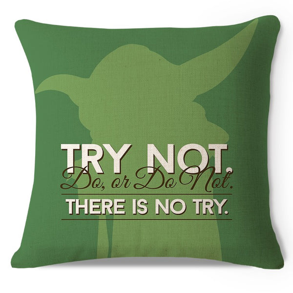 Yoda pillow cover