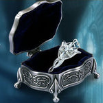 Lord of the Rings Set Arwen Evenstar 925 Silver Pendant  + Metal Jewelry Box