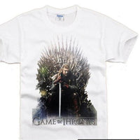Ned Stark On The Iron Throne T-Shirt Edition