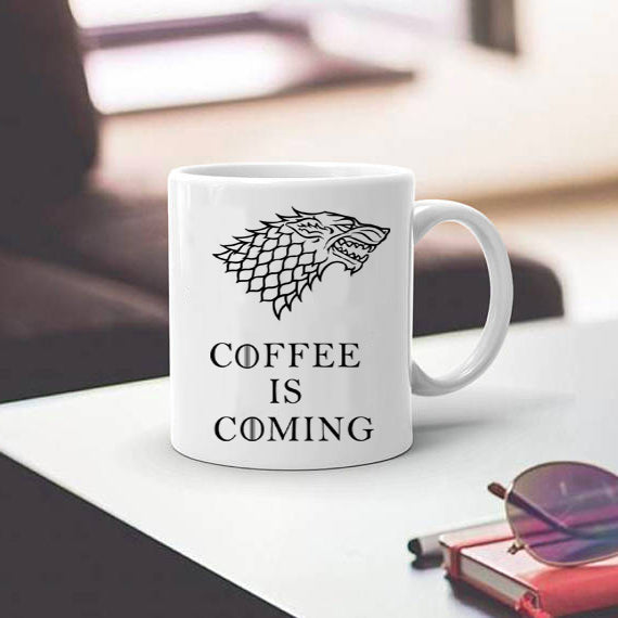 Stark mugs Game of Thrones cup coffee is coming