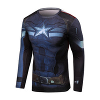 Black Venom Spiderman Compression Shirt Men
