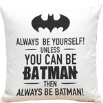 Superheroes Pillowcase with Funny Messages