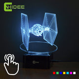 Star Wars Tie Fighter Lamp 3D Deco Vision Desk