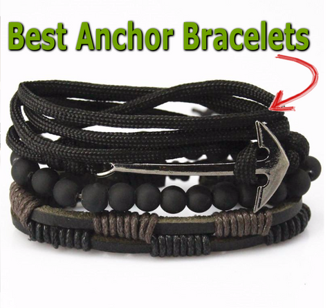 Best Anchor Bracelets -Braided Wristbands Bracelet Men Women