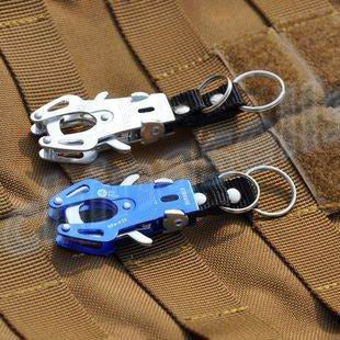 2pcs Outdoor alloy Tiger Buckle Fast Hang Carabiner Hook Travel Kits Camping Equipment Mountaineering Hook Keychain key ring