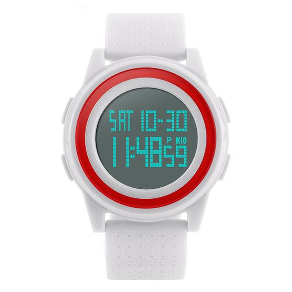 Waterproof Ladies Sport Watch in Black, Blue and Red
