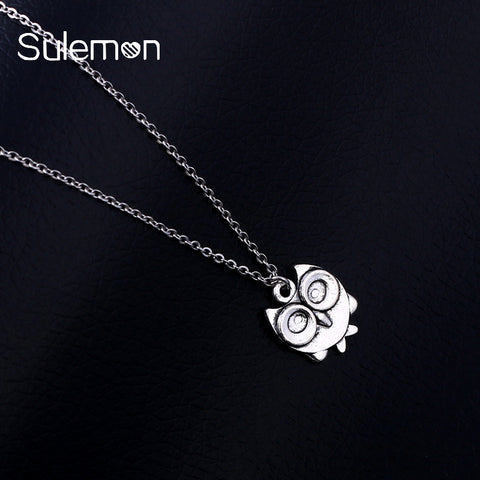 Owl Pendant Stainless Steel Necklace For Women & Men
