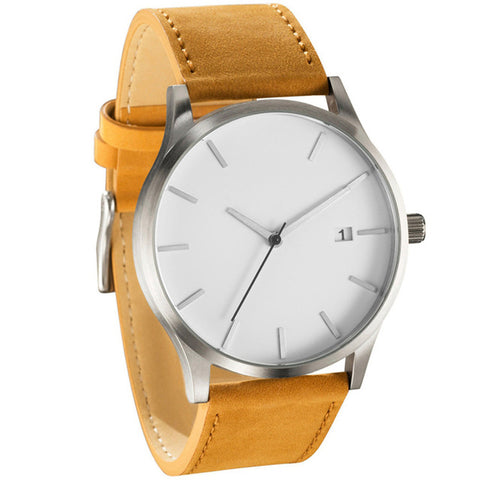 Casual Mens' Leather Watch