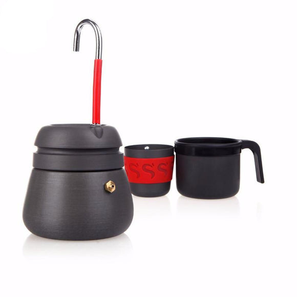 Camping Coffee Percolator 350ml with Two Cups