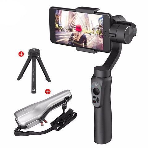 Bluetooth 3-Axis Handheld Gimbal Camera Phone Stabilizer with Tripod
