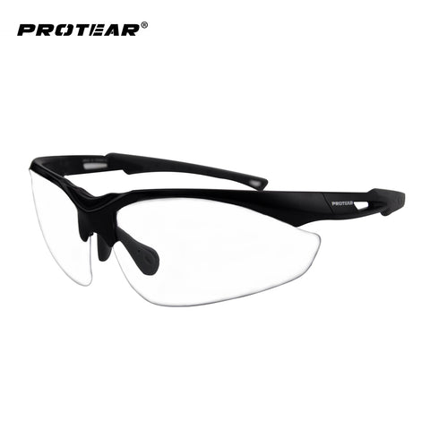 Protear Safety Glasses Protective Eyewear Clear Anti Fog Scratch Resistant Lens Military Ballistic Standard UV 380 Protection