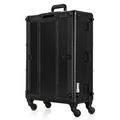 Aluminum Professional Hair & Makeup Case + Chair Set - Matte Black
