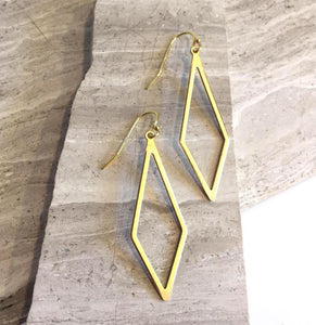 Elongated diamond shape Earrings