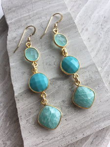 Amazonite graduated Earrings