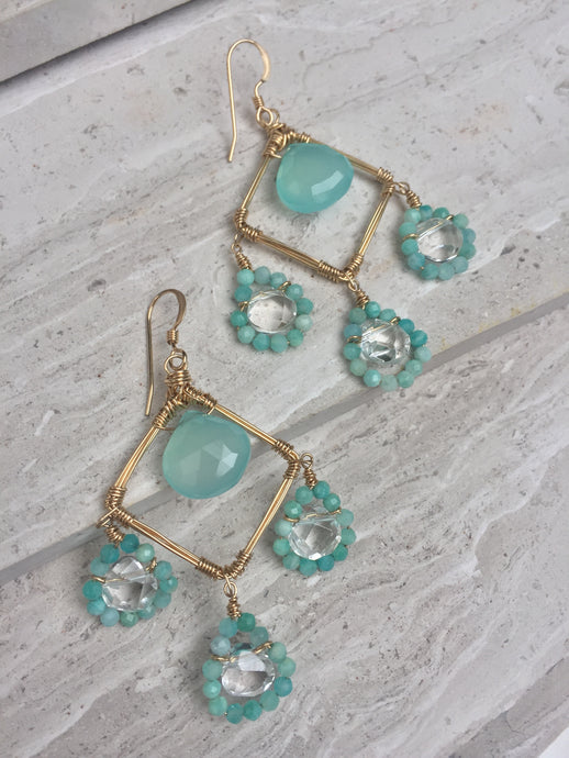 Aqua Amazonite Earrings