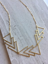 Brass Angles Necklace, on tile