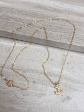 CZ Anchor Charm Necklace