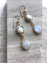 Double Moonstone Earrings