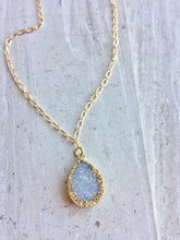 Druzy Droplet Pendant Necklace